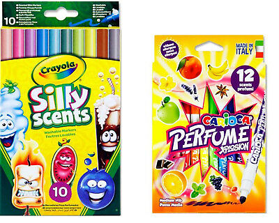 Kids Scented Makers Colouring Pens Crayola Silly Felt Tip Pens Perfume Xplosion