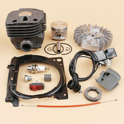 Garden Tools Crankcase Flywheel Ignition Coil 50mm Cylinder Piston Kit For Husqvarna 362 365 371 372 Chainsaw Bearing Oil Fuel Cap Seal Switc