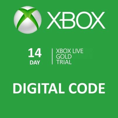 Worldwide Xbox Live 14 Days Trial Gold Membership Subscription Card