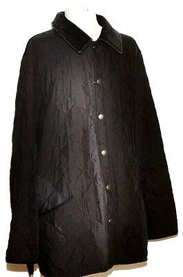 Men's Barbour Soft Touch Liddesdale Quilted Jacket M Black