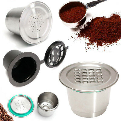 Stainless Steel Metal Reusable Coffee Capsule Accessories For Nespresso Machine