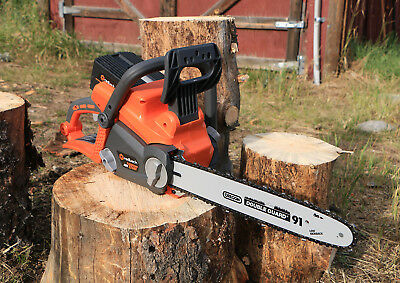 40V 12 in. Cordless Li-ion Chain Saw GREAT Brushless Motor Oversized Trigger