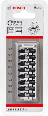Bosch Impact Control Screwdriver Bit 8 x PZ 2 NEW RANGE !!!! Highly Robust