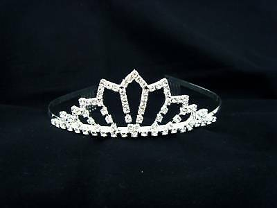 Diadema Sposa Corona Diadem Tiara Velo Wedding Dress Cerchietto Cerchio Elegante