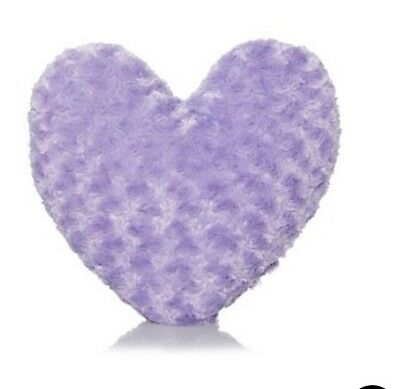 Faux Fur  Lilac Heart Shaped Cushion BNWT
