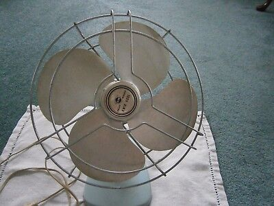 Knapp Monarch Kwik Kool Vintage Fan Powder Blue Adjustable Desk Fan Working
