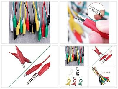 New Test Lead Set 10 Pieces And 5 Colors Test Lead With Alligator Clips Dou GIFT