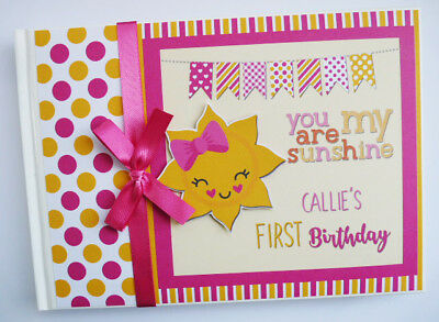 Personalised You Are My Sunshine Birthday Guest Book - Any Design