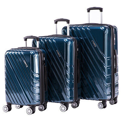 Hardshell luggage set ABS PC spinner luggage set 3 Piece Lightweight  Suitcase b641d045cecd4