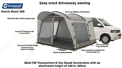 Outwell Scenic Road 200 - Driveaway Awning- Ideal VW T4,T5,T6