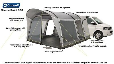 Outwell Scenic Road 300 - Driveaway Awning-Ideal VW T4,T5,T6