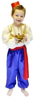 World Book Day-Shows-Aladdin GOLD /& STRIPED GENIE OF THE LAMP Costume All Ages