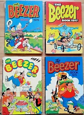 The Beezer Book Annuals - 1976 1977 1978 1979 - 3 Unclipped