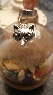 Fox Orb /Woodland Fox Orb/Fox Totem /witches ball / Witches glass orb/Wicca