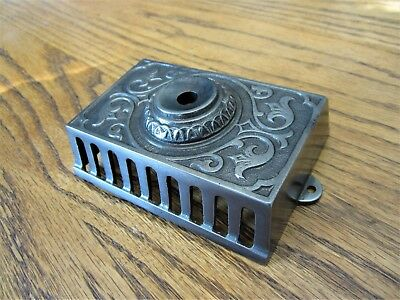 NR MINT! Ornate Victorian Cast Iron Wall Mount Eastlake Doorbell Button Elevator
