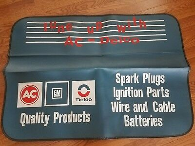 Vintage Car Fender Mat Cover AC GM Delco Quality Products New Spark Plugs