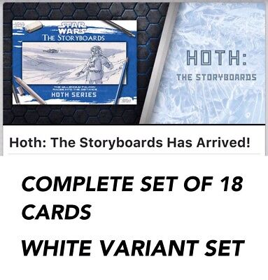 HOTH THE STORYBOARDS WHITE COMPLETE SET OF 18 CARDS Star Wars Trader Digital