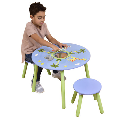 Safari Round Table & 2 Stools Set / Children's Playroom Furniture