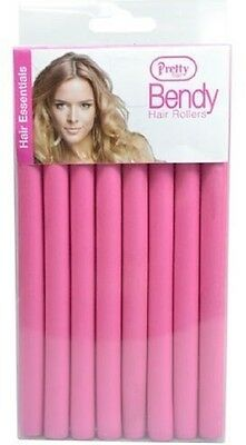 Pretty Bendy Hair Roller Create Curls & Waves Twistee Curlers Pack of 8, 2 Sizes