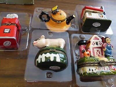 porcelain trinket boxes Country collection 5 with boxes #4