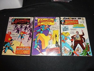 ADVENTURE COMICS 3 Issue Lot #381 382 413 1st Solo SUPERGIRL