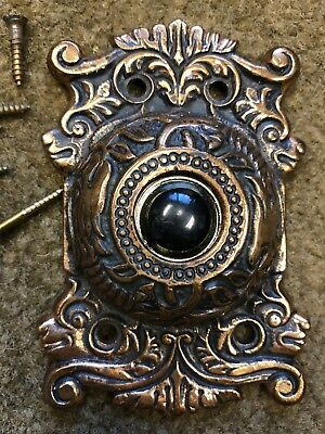 Antique Vintage Brass Dragon Door Bell Cover Doorbell