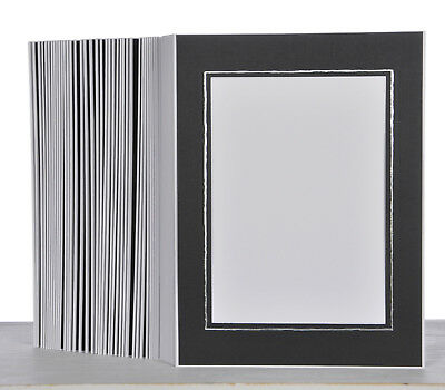 Picture Folder/Leporello for 100 Photos 13x18 - Black with Silver Edge - 333s