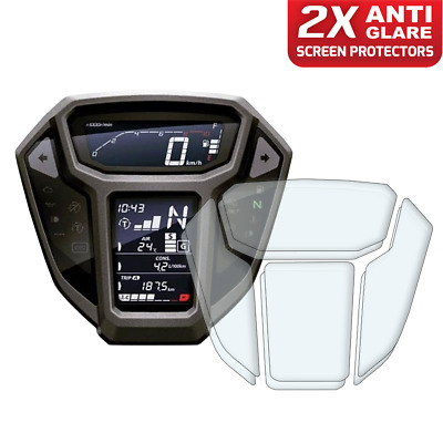 2 x Honda Africa Twin CRF1000L 2015-2017 Dashboard Screen Protector: Anti-Glare