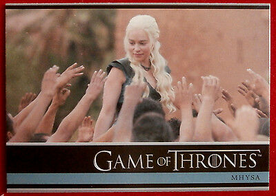 GAME OF THRONES - MHYSA - Season 3, Card #30 - Rittenhouse 2014