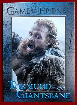 GAME OF THRONES - Season 6 - Card #52 - TORMUND GIANTSBANE - Rittenhouse 2017