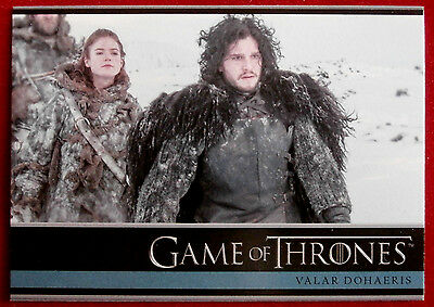 GAME OF THRONES - Season 3 - Card #01 - VALAR DOHAERIS - Rittenhouse 2014