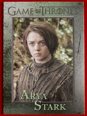 GAME OF THRONES - ARYA STARK - Season 3, Card #39 - Rittenhouse 2014