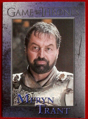GAME OF THRONES - SER MERYN TRANT - Season 3, Card #90 - Rittenhouse 2014