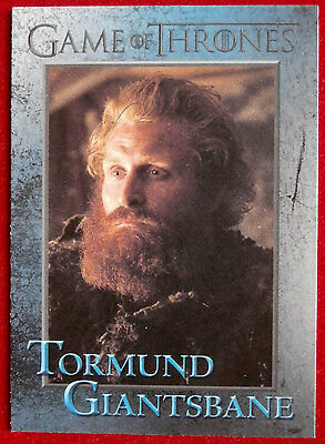GAME OF THRONES - TORMUND GIANTSBANE - Season 3, Card #74 - Rittenhouse 2014