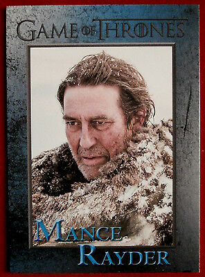GAME OF THRONES - MANCE RAYDER - Season 3, Card #81 - Rittenhouse 2014