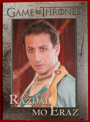 GAME OF THRONES - RAZDAL MO ERAZ - Season 3, Card #78 - Rittenhouse 2014