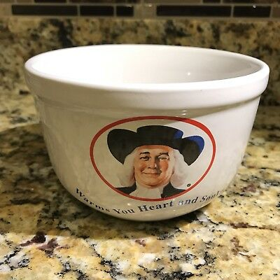 Quaker Oats Oatmeal Cereal Bowl 1999 Warms You Heart and Soul  White Bowl - NEW
