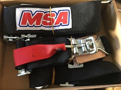 Drag Racing  5 point Harness SFI 16.1 Approved Latch & Link  (Black) ANDRA, IHRA