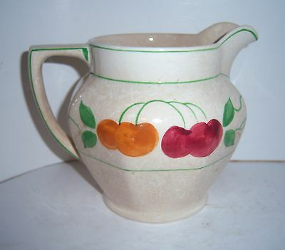 "ROYAL TUDOR WARE BARKER BROS CHERRIES BERRIES PITCHER JUG HOLDS 32oz/5"" TALL"