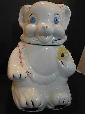 Vintage Teddy Bear Cookie Jar Royal Ware??? 1950's  (Unmarked)