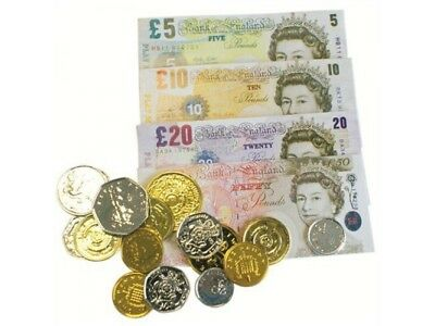 Children's Kids Toy Fake PLAY MONEY Pound Notes Coins Fun Game Toy Cash Learning