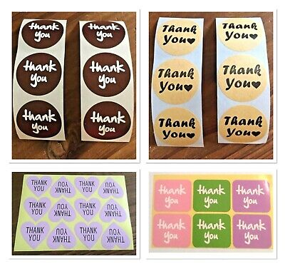 """🎁(24 or 48) """"THANK YOU"""" STYLE GIFT LABELS/STICKERS/SEALS~CRAFT/FAVOURS/PRODUCTS"""