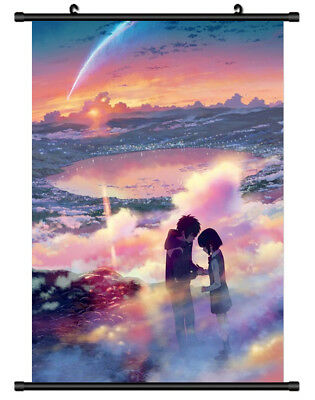 B1095 kimi no na wa Your Name anime manga Wallscroll Stoffposter 25x35cm