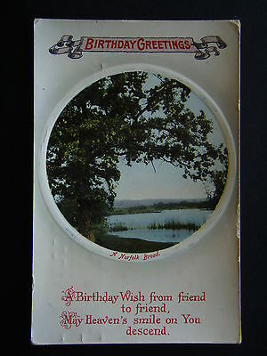 Birthday Greetings A Norfolk Broad A Birthday Wish From Friend Postcard