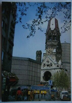 Berlin Kaiser Wilhelm Memorial Church Postcard