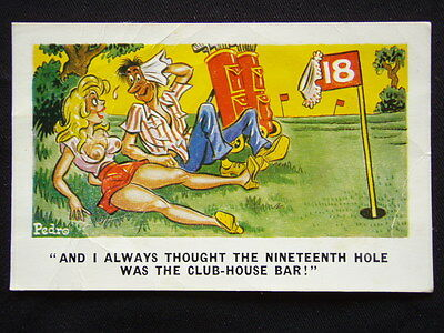 And I Always Thought The Nineteenth Hole Was The Club c1980's Postcard (P235)