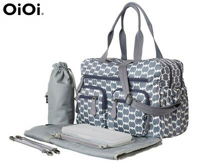 OiOi Eclipse Dot Carry-All Nappy Bag - Smokey Blue