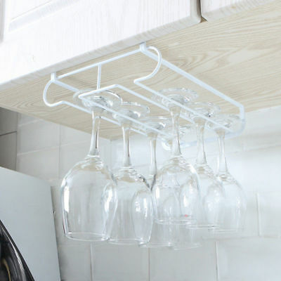 Cabinet Mounted Wine Cup Storage Rack Hanging Wine Glass Holder Bar Kitchen Tool