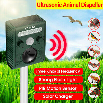 Digoo DG-AR01 Ultrasonic PIR Sensor Garden Dog Cat Animal Repeller Flash Light