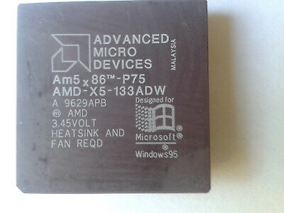AMD AM5 x86 P75 AMD-X5-133ADW VINTAGE CPU. IN GOOD CONDITION,  3.45v